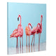 Slinky Flamingos | Hand Painted Oil on Canvas | 60 x 60cm Framed