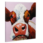 Load image into Gallery viewer, How Now Brown Cow | Hand Painted Oil on Canvas | 60x60cm Framed