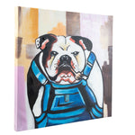 Load image into Gallery viewer, Grumpy Bulldog in Dungerees | Hand Painted | 60 x 60cm Framed | 70% OFF!