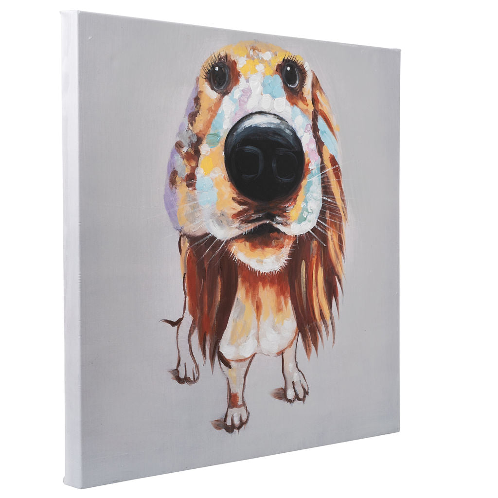 Hound Dog | Hand painted oil on canvas | 60x60cm Framed