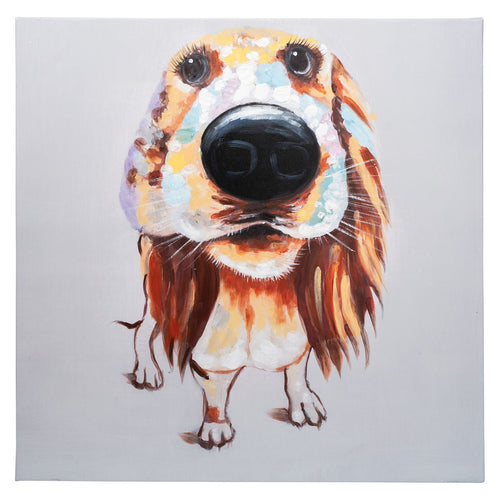 Hound Dog. 100% hand painted oil on canvas. 60x60cm. Framed. HALF PRICE