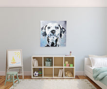 Load image into Gallery viewer, Dalmatian. 100% hand painted oil on canvas. Framed - Fun Animal Art