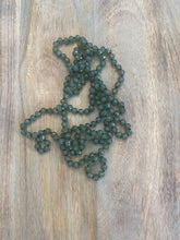 Load image into Gallery viewer, Army Green Crystal Bead Necklace