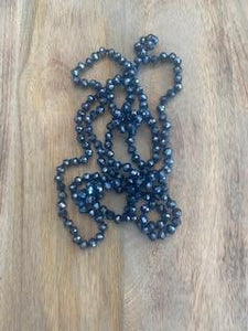 Blue Crystal Bead Necklace