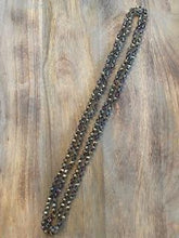 Load image into Gallery viewer, Deep Gunmetal Iridescent Crystal Bead Necklace