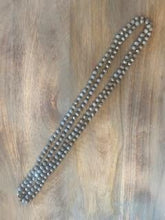 Load image into Gallery viewer, Gray and Silver Crystal Bead Necklace