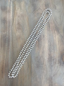 Ivory Iridescent Crystal Bead Necklace