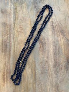 Navy Iridescent Crystal Bead Necklace