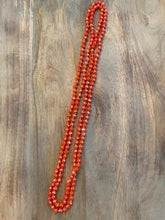 Load image into Gallery viewer, Orange Iridescent Crystal Bead Necklace