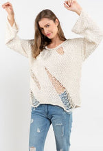 Load image into Gallery viewer, POL Soft Distressed Sweater