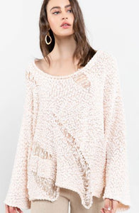 POL Soft Distressed Sweater