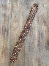 Load image into Gallery viewer, Rose Gold Crystal Bead Necklace