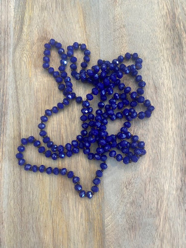 Royal Blue Crystal Bead Necklace