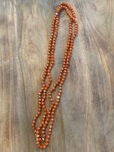 Load image into Gallery viewer, Salmon Iridescent Crystal Bead Necklace