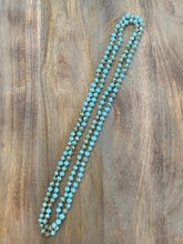 Load image into Gallery viewer, Turquoise and Silver Iridescent Crystal Bead Necklace