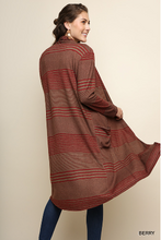 Load image into Gallery viewer, Striped Long Sleeve  Cardigan