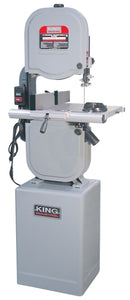 "King Canada 14"" Wood Bandsaw With Resaw Guide KC-1433FXR"