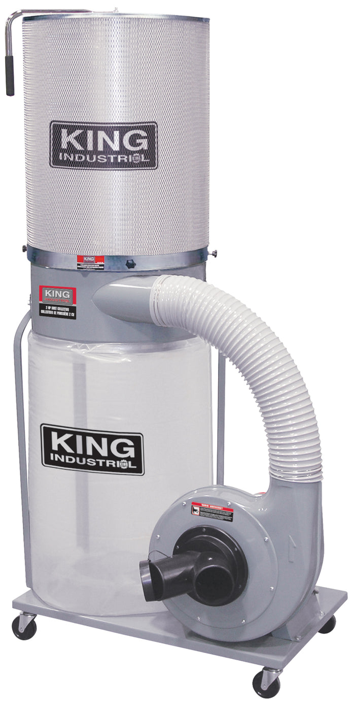 King Canada Dust Collector With Canister Filter 110/220 Volt KC-3105C/KDCF-3500