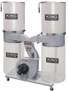 King Canada Dust Collector With Canister Filter 220 Volt KC-4045C/KDCF-3500
