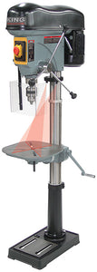 "King Canada 17"" Long Stroke Drill Press With Safety Guard KC-119FC-LS"