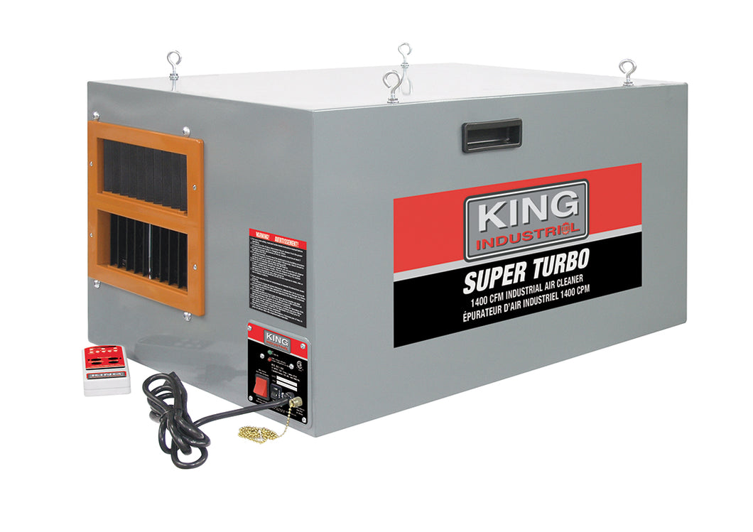 King Canada Industrial Air Cleaner With Remote Control KAC-1400