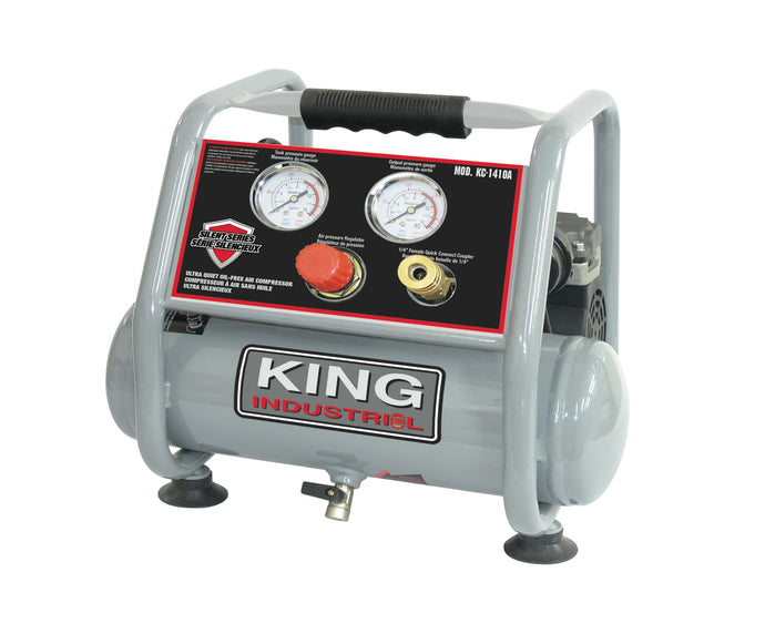 King Canada Ultra Quiet Oil Free Air Compressor KC-1410A