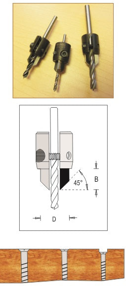 Adjustable Carbide Tipped Countersink Drill