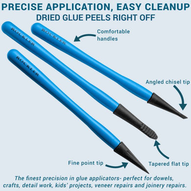 Rockler Silicone Micro Glue Brush Set