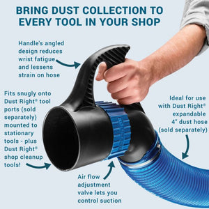 Dust Right® 4'' Quick Change Handle