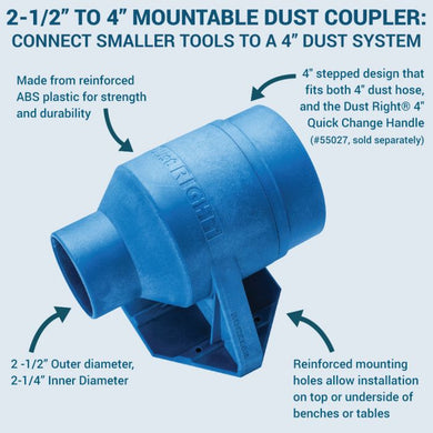 Dust Right Mountable Dust Coupler