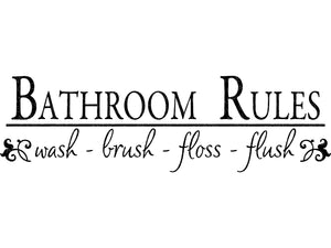 Bathroom Rules Svg - Bathroom Svg - Wash Brush Floss Flush Svg - Bathroom Sign SVG - Bath Svg - Svg Eps Png Dxf