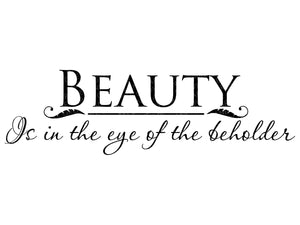 Beauty Svg - Bathroom Svg - Beauty is in the Eye of the Beholder - Vector Clip Art - Svg Eps Png Dxf