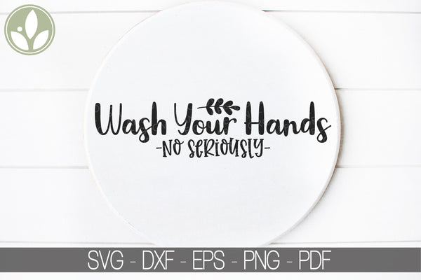 Bathroom Svg Cut File - Wash Your Hands Svg- Vector Clip Art Design - Svg Eps Png Dxf