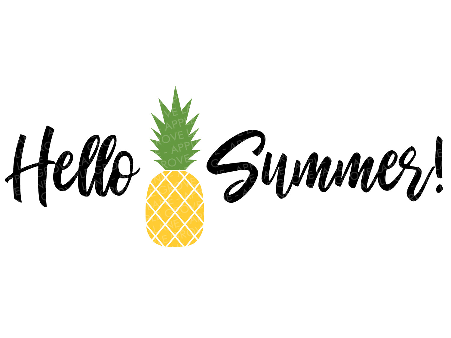 Hello Summer Svg - Pineapple Svg - Stand Tall Svg - Fruit Svg - Tropical Svg - Hawaii Svg - Beach Svg Eps Png Dxf