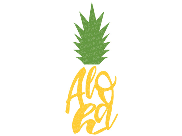 Aloha Svg - Pineapple Svg - Stand Tall Svg - Fruit Svg - Tropical Svg - Hawaii Svg - Beach Svg Eps Png Dxf