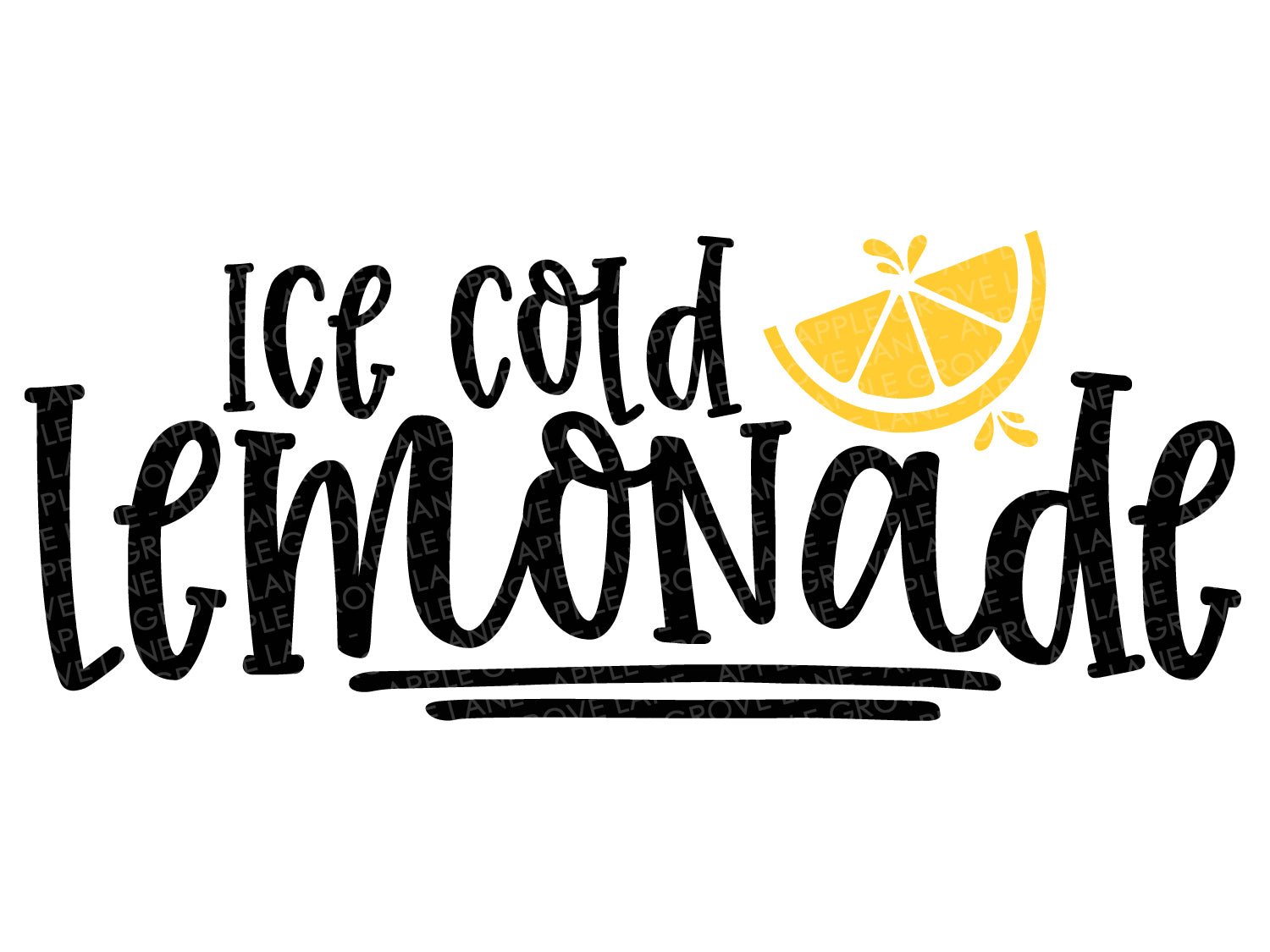 Ice Cold Lemonade Svg - Summer Svg - Lemon Svg - Lemonade Stand Svg - Lemonade Svg - Svg Eps Dxf Png