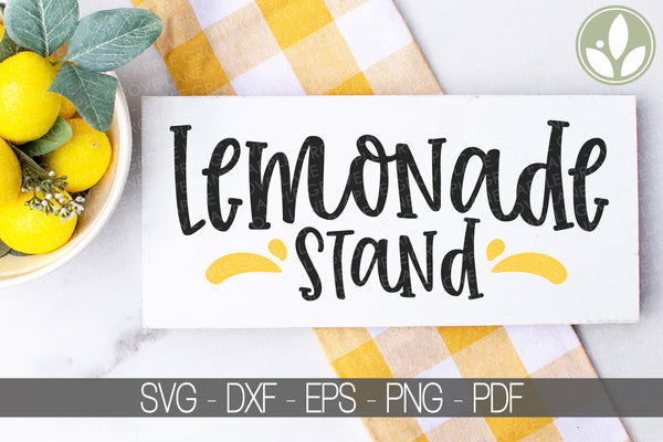 Lemonade Stand Svg - Lemons Svg - Summer Svg - Lemonade Svg - Lemon Svg - Lemonade Sign - Kids Lemonade Stand Svg