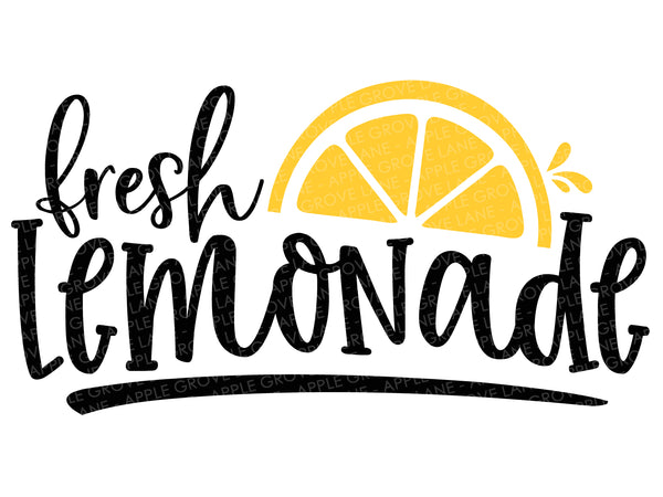 Fresh Lemonade Svg - Lemons Svg - Summer Svg - Lemonade Stand Svg - Lemonade Sign Svg - Svg Eps Dxf Png
