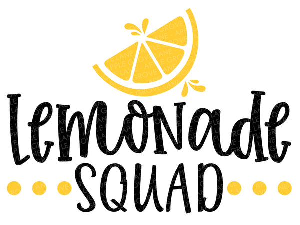 Lemonade Squad Svg - Lemons Svg - Lemonade Stand Svg - Summer Svg - Lemonade Shirt Svg - Svg Eps Dxf Png