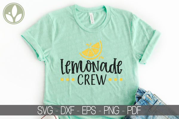 Lemonade Crew Svg - Lemons Svg - Lemonade Stand Svg - Summer Svg - Lemonade Shirt Svg - Svg Eps Dxf Png
