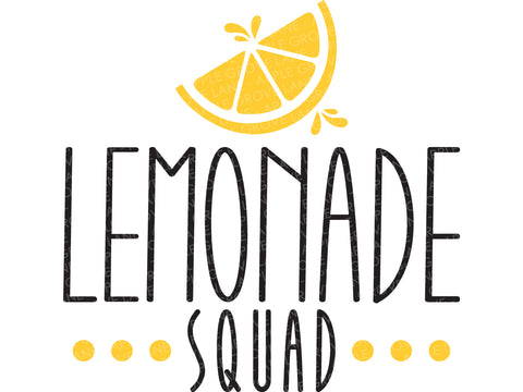 Lemonade Svg Cut File - Summer Svg - Lemons Svg - Lemonade Squad Svg - Svg Eps Dxf Png