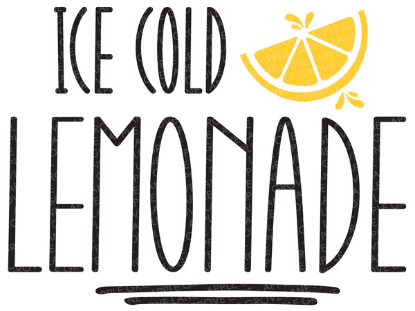 Lemonade Svg Cut File - Summer Svg - Lemons Svg - Ice Cold Lemonade Svg - Svg Eps Dxf Png