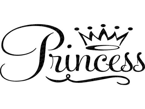 Princess Crown Svg, Princess Svg, Crown Svg, Princess Clipart, Baby Princess Svg, Princess Girl Svg - Svg Dxf Png Eps