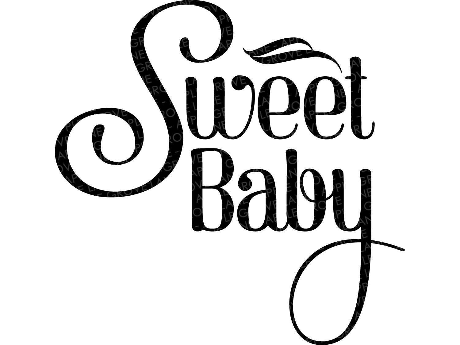 Sweet Baby Svg - Baby Svg - Baby Nursery Svg - Baby Decor Svg - Baby Shower Svg - Baby Clip Art - Baby Shower Clip Art - Svg Eps Dxf Png