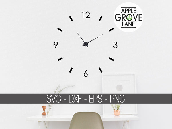 Clock Face Svg - Clock Numbers Svg - Svg Clock Template - Clock Svg - Clock Stencil - Svg Eps Png Dxf