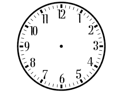 It is a photo of Printable Clock Faces for Crafts in teaching