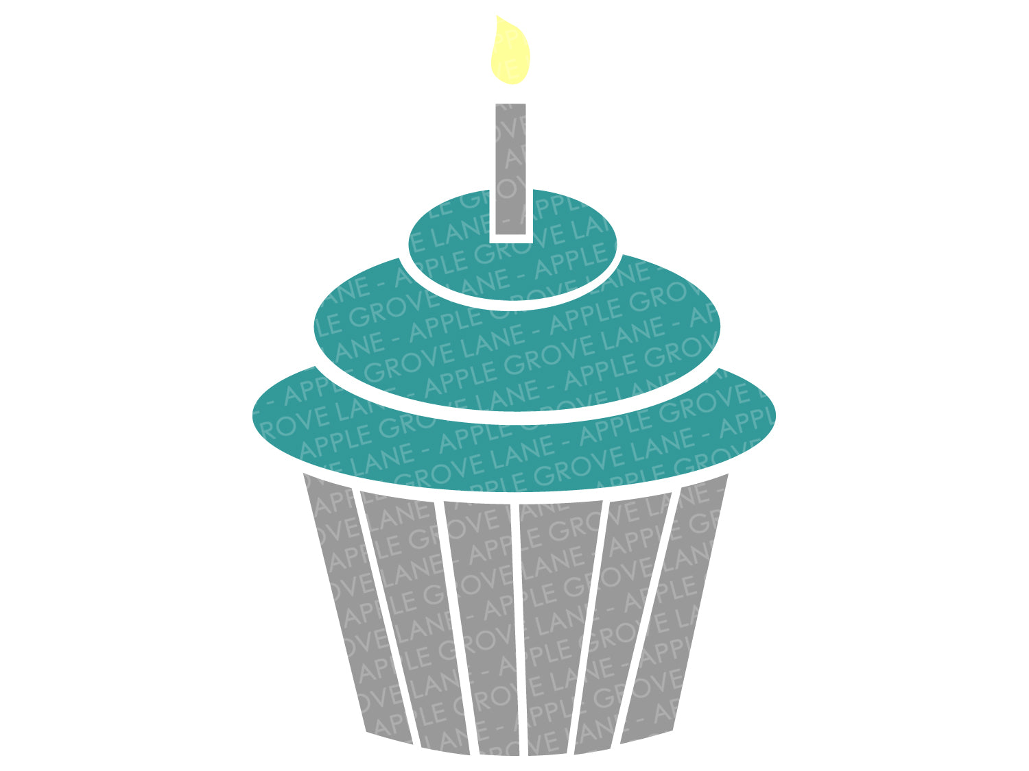 Birthday Cupcake SVG - Birthday Svg - Birthday Candle SVG - Cupcake Svg - Birthday Party Svg - Birthday Cake Svg - Svg Eps Png Dxf