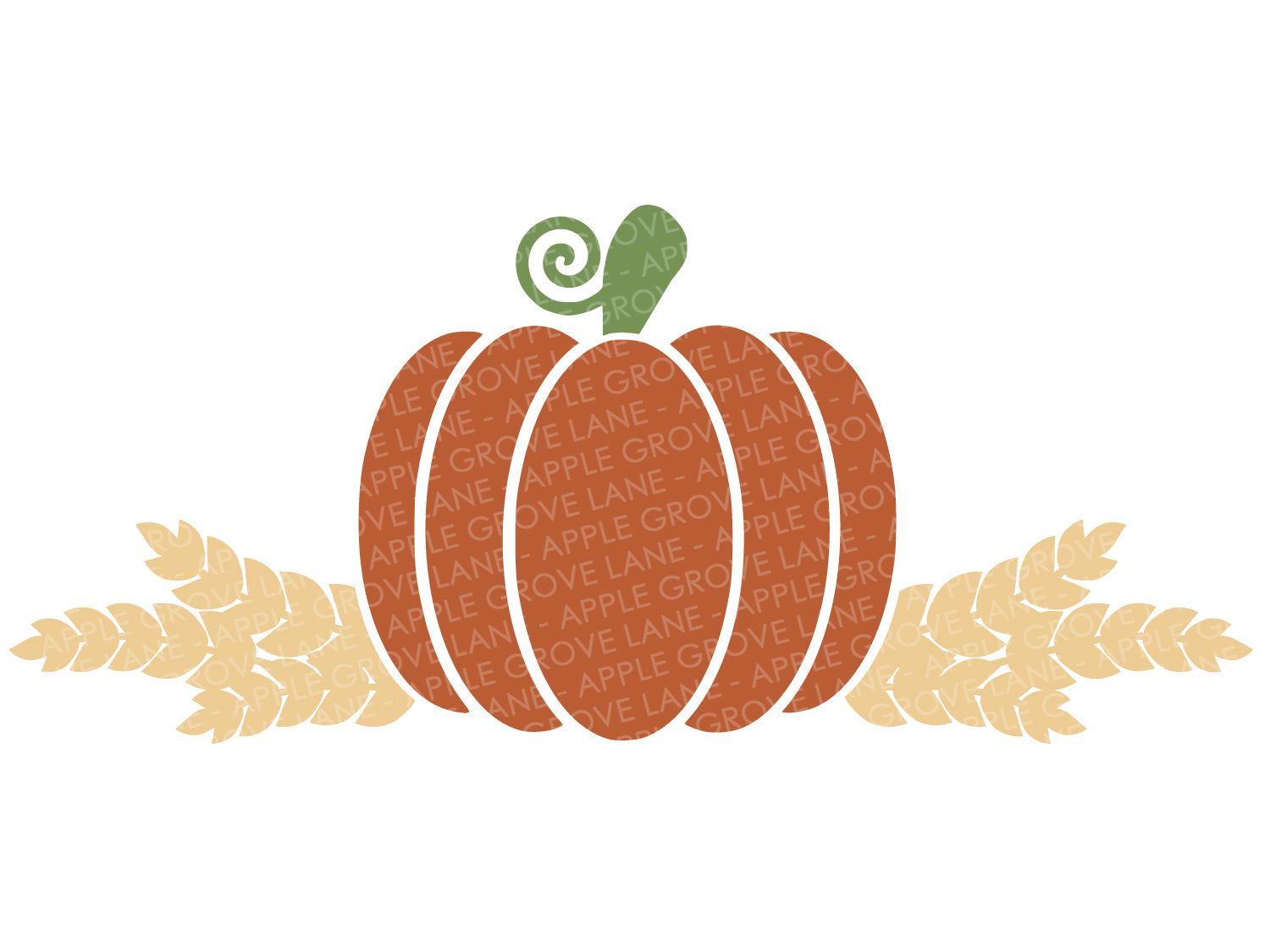 Fall Pumpkin SVG - Wheat Svg - Harvest SVG - Thanksgiving Svg - Fall Clip Art - Barley Svg - Pumpkin Clip Art - Svg Eps Png Dxf