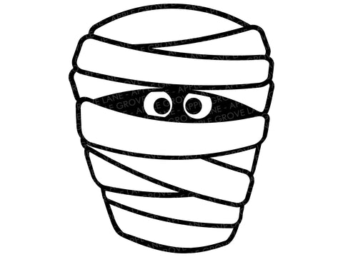Mummy Svg - Mummy Head Svg - Mummy Face Svg - Halloween Mummy Svg - Monster Svg - Halloween Svg - Fall Svg - Svg Eps Dxf Png