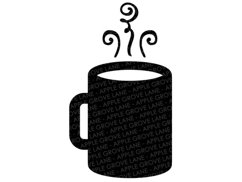 Coffee Mug Svg - Hot Chocolate Svg - Mug Svg - Coffe Cup Svg - Coffee Svg - Winter Svg - Svg Eps Dxf Png
